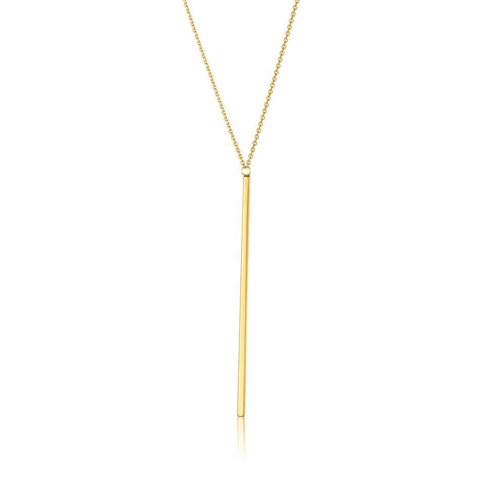 White Gold Single Bar Necklace