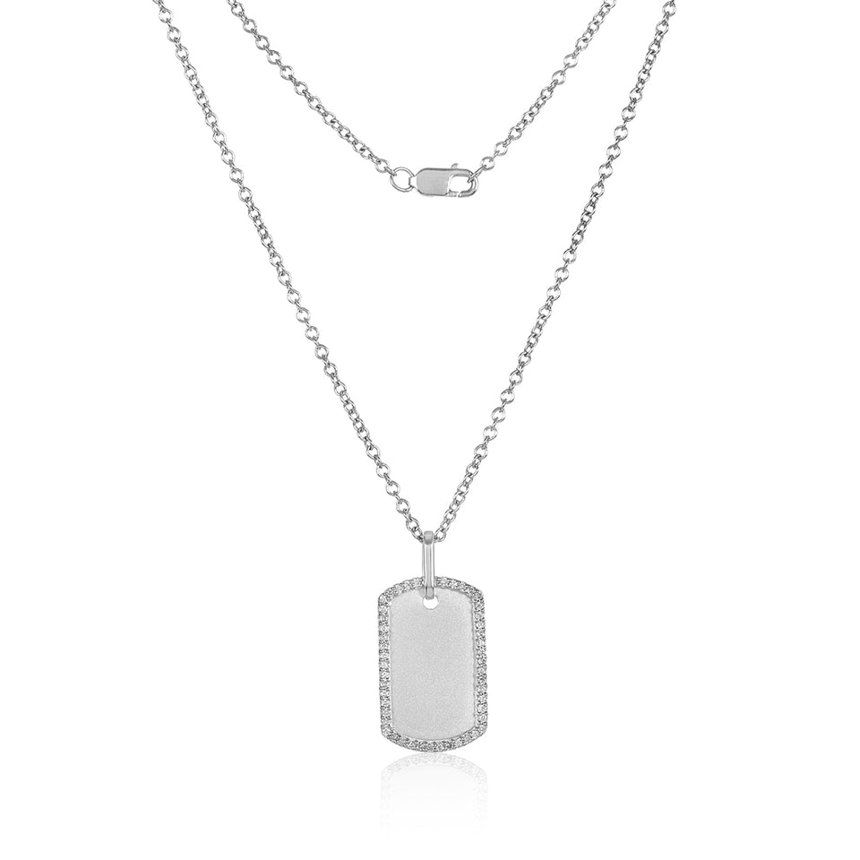 Mini Diamond Edge Dog Tag