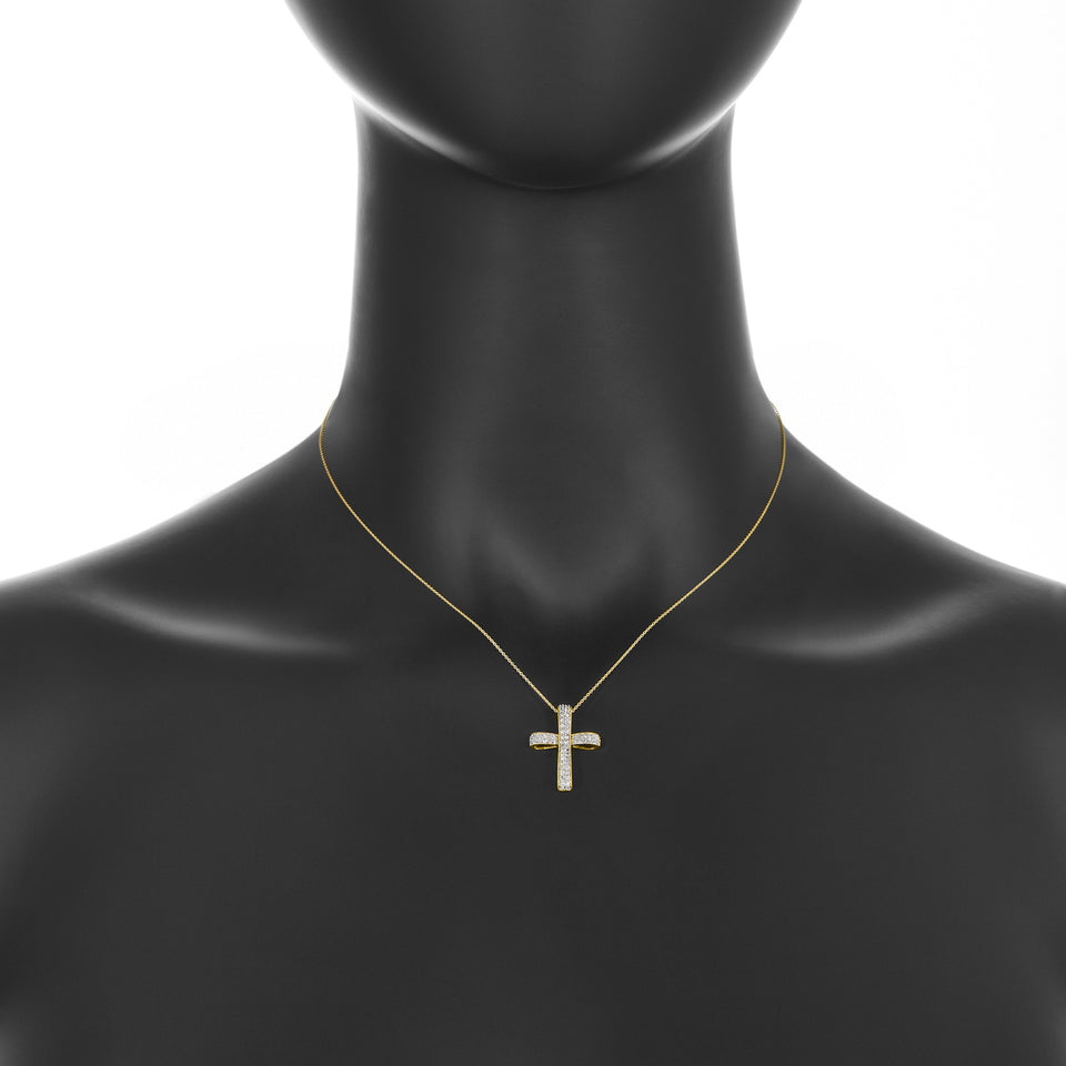 Yellow Gold & Diamond Cross