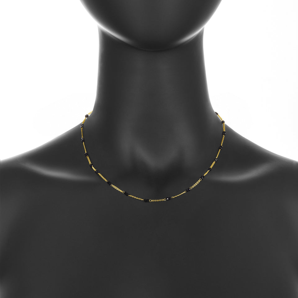 14k Onyx Crystal Necklace