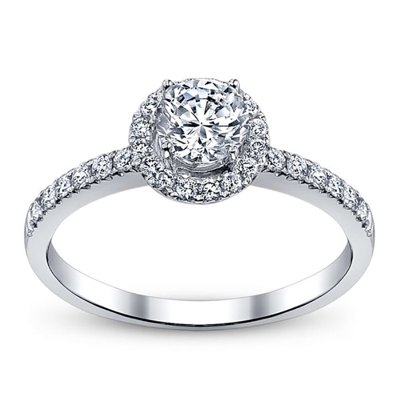 Nehita 1.3 Round Moissanite Halo Engagement Ring