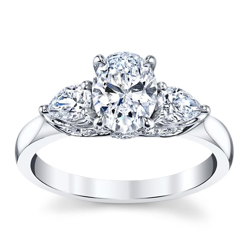 Triple Oval Engagement Ring