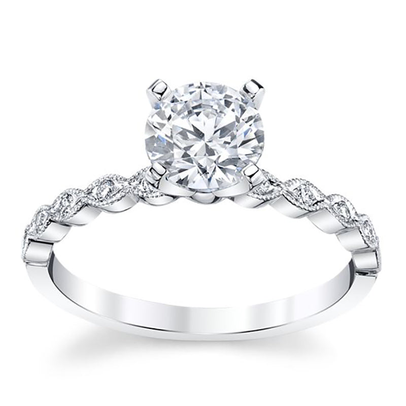 Infinity Moissanite Engagement Ring