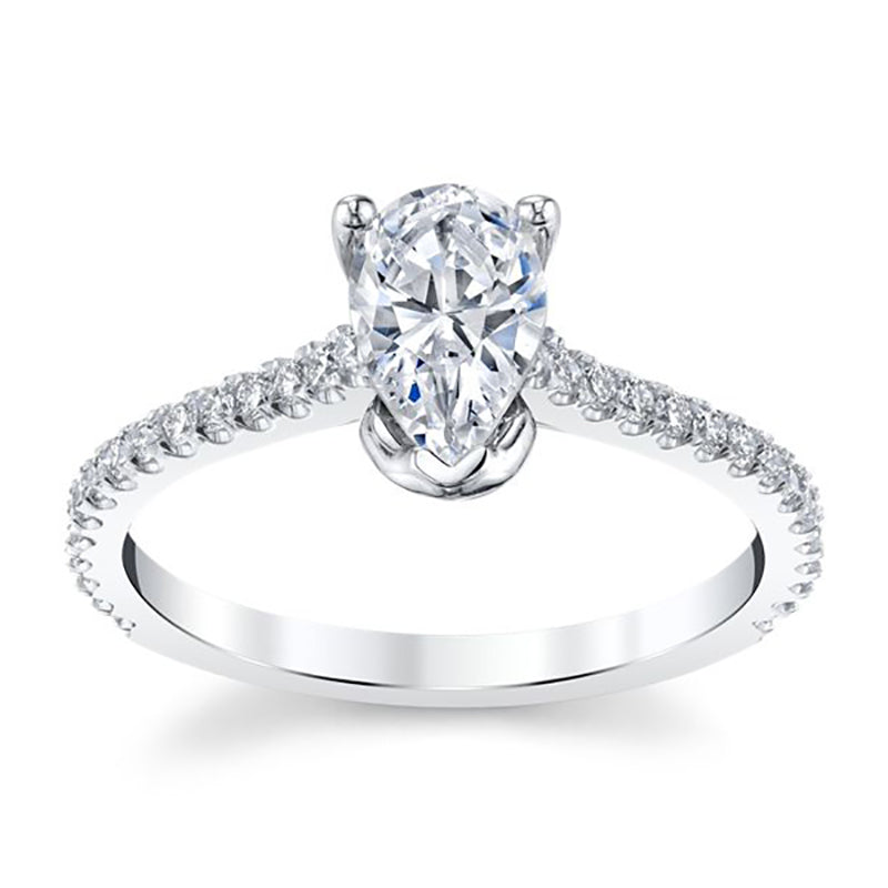 Pear Shaped Prong Setting Engagement Ring