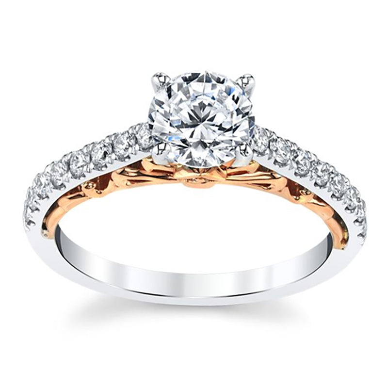 Grace Two Tone Halo Engagement Ring