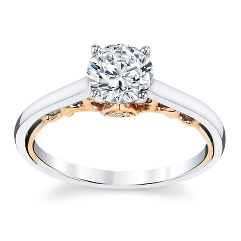 Grace Two Tone Engagement Ring