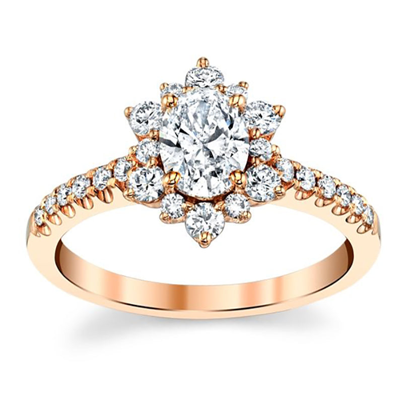 Star Oval Moissanite Engagement Ring