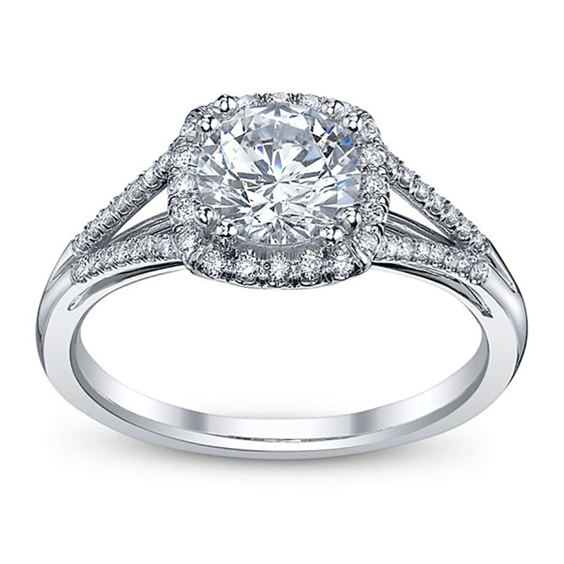 Cushion-Cut Nehita Split Shank Engagement Ring
