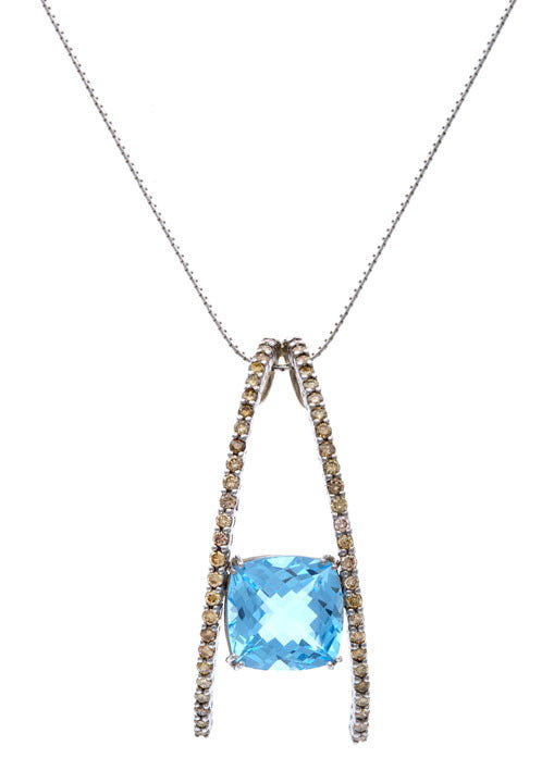 First Impression Custom Collection ~  Champagne Diamond & Topaz Pendant