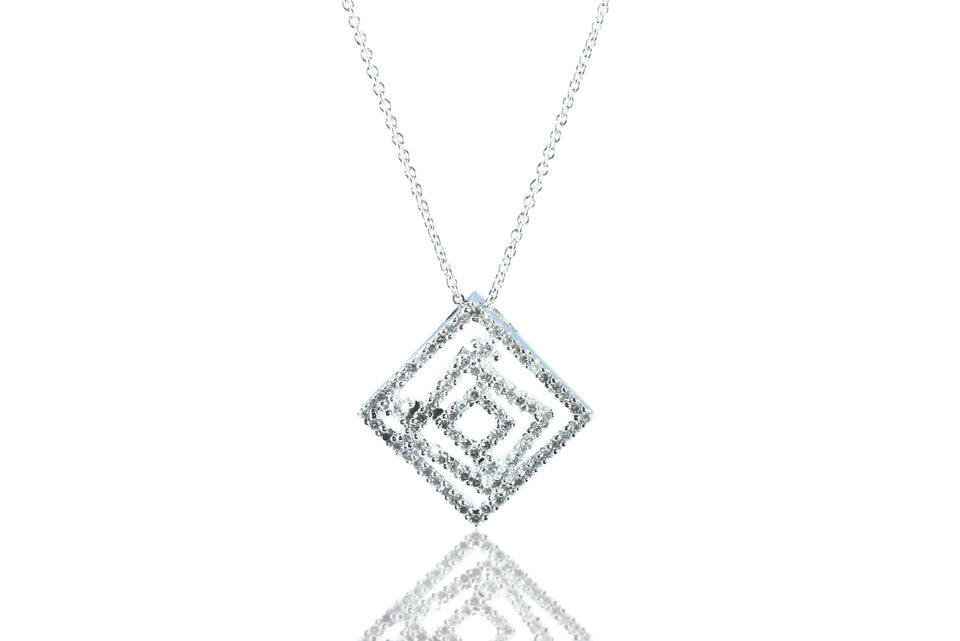 Diamond Puzzle Pendant