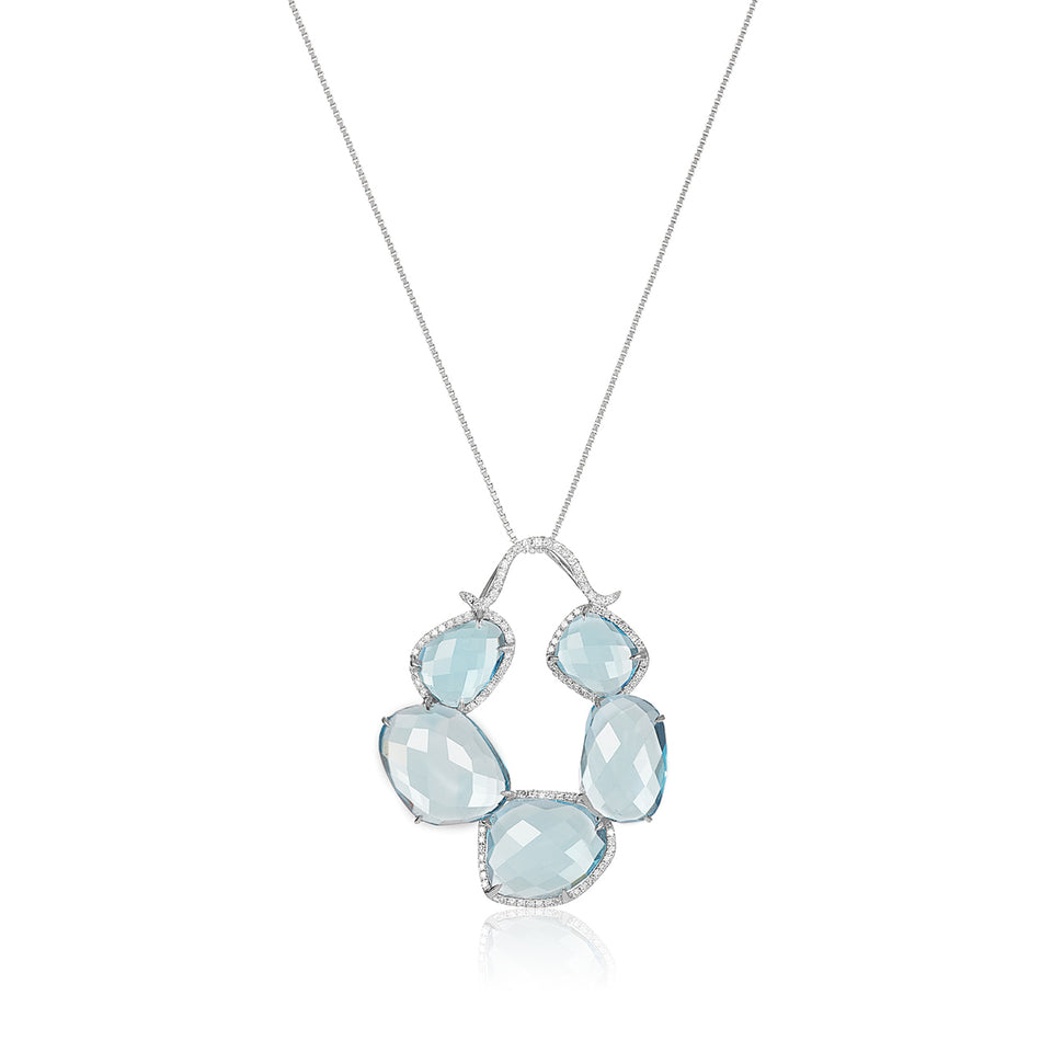 Multi-Shape Blue Topaz Pendant