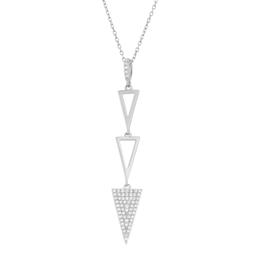 Triple Triangle Diamond Pendant