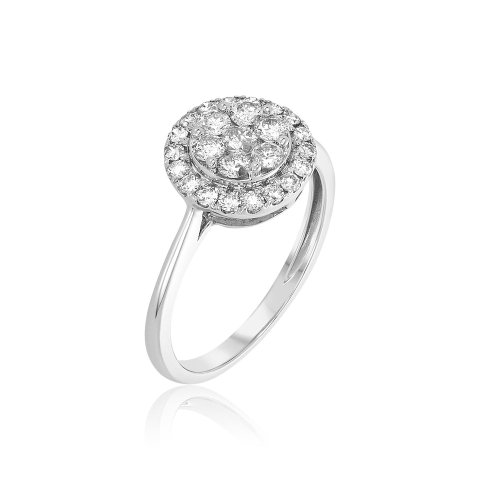 Double Rose Nehita Engagement Ring