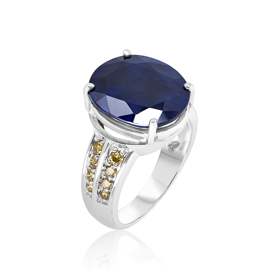 Royale Collection ~ Deep Blue Sapphire Ring