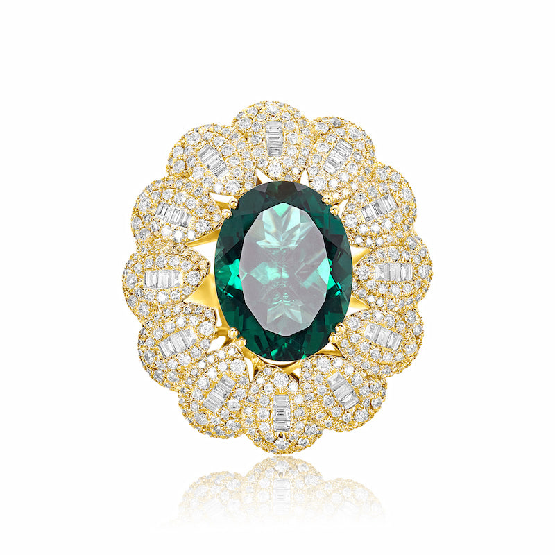 Changeable Multi-Gemstone Diamond Ring