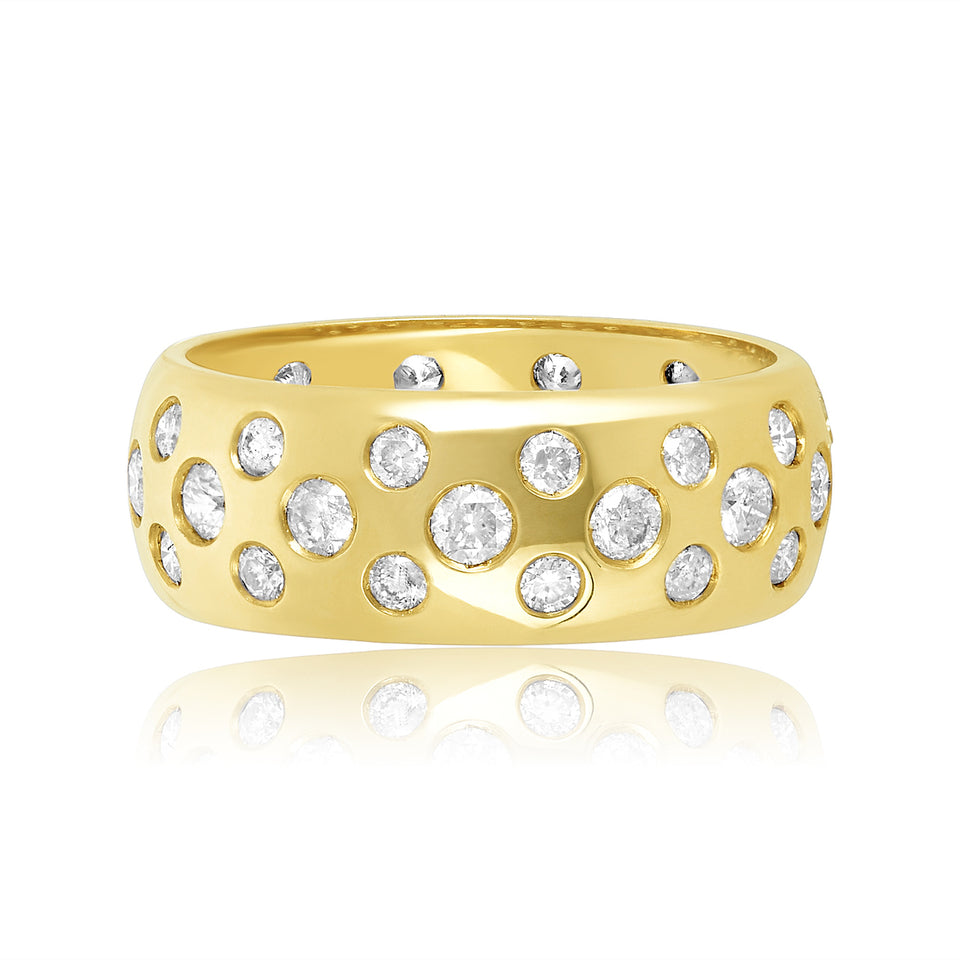 Sprinkle Diamond Wedding Band