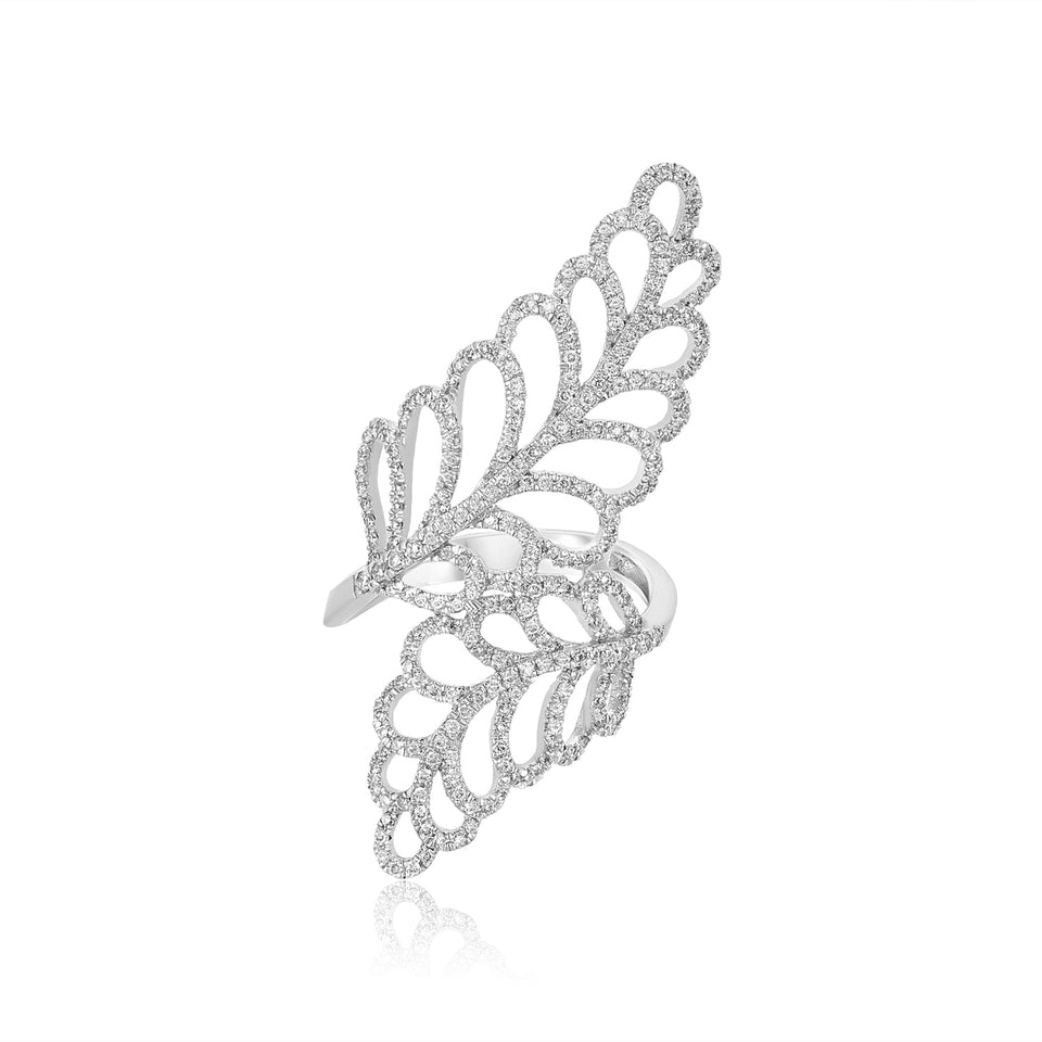 Olive Leaf Diamond Ring
