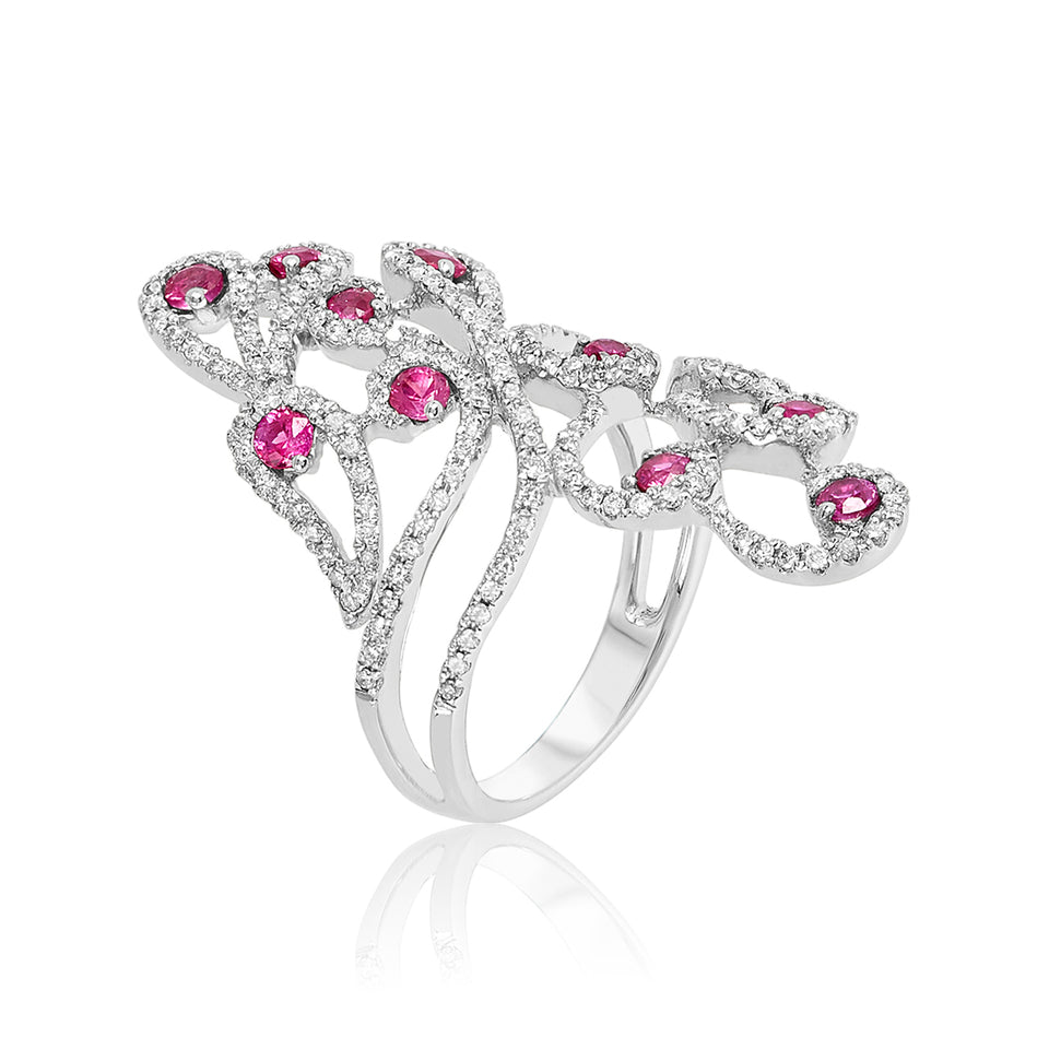 Sizzling Ruby & Diamond Ring