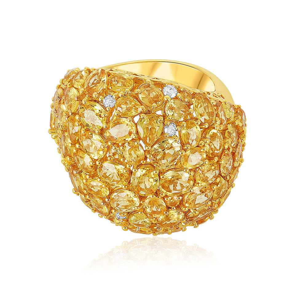 Fancy Citrine Ring