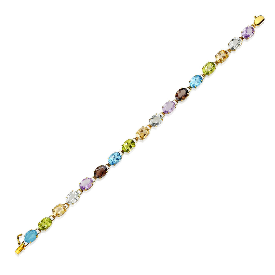 Fancy  Multi Gemstone Bracelet