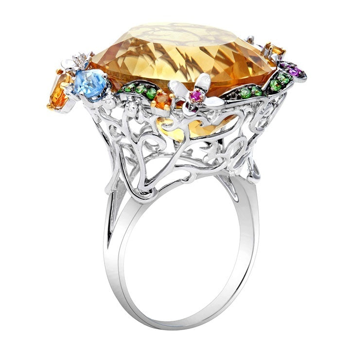 Exotic Citrine Ring
