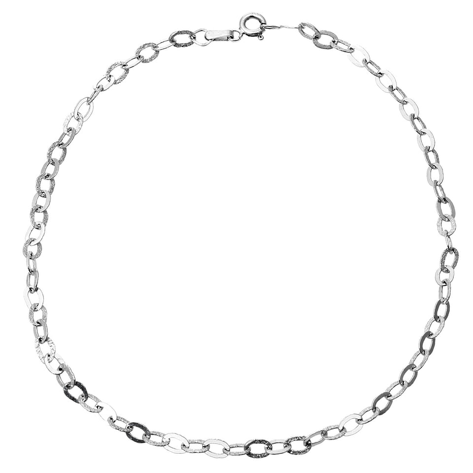 White Gold Anklet