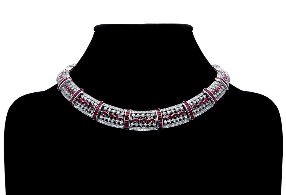 First Impression Custom Collection ~ Ruby & Diamond Necklace