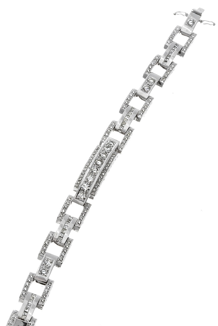 First Impression Custom Collection ~ Link Diamond Bracelet