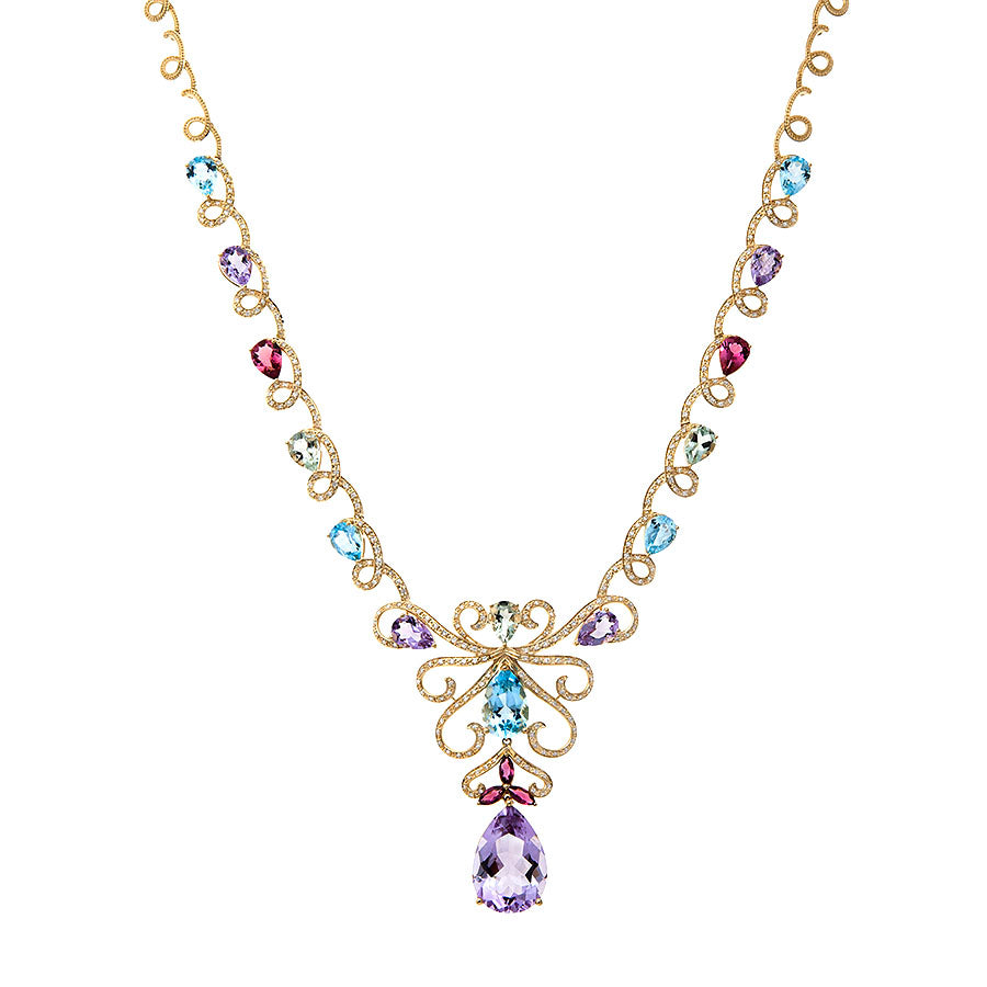 First Impression Custom Collection ~ Swa Multi-Stone Diamond Necklace