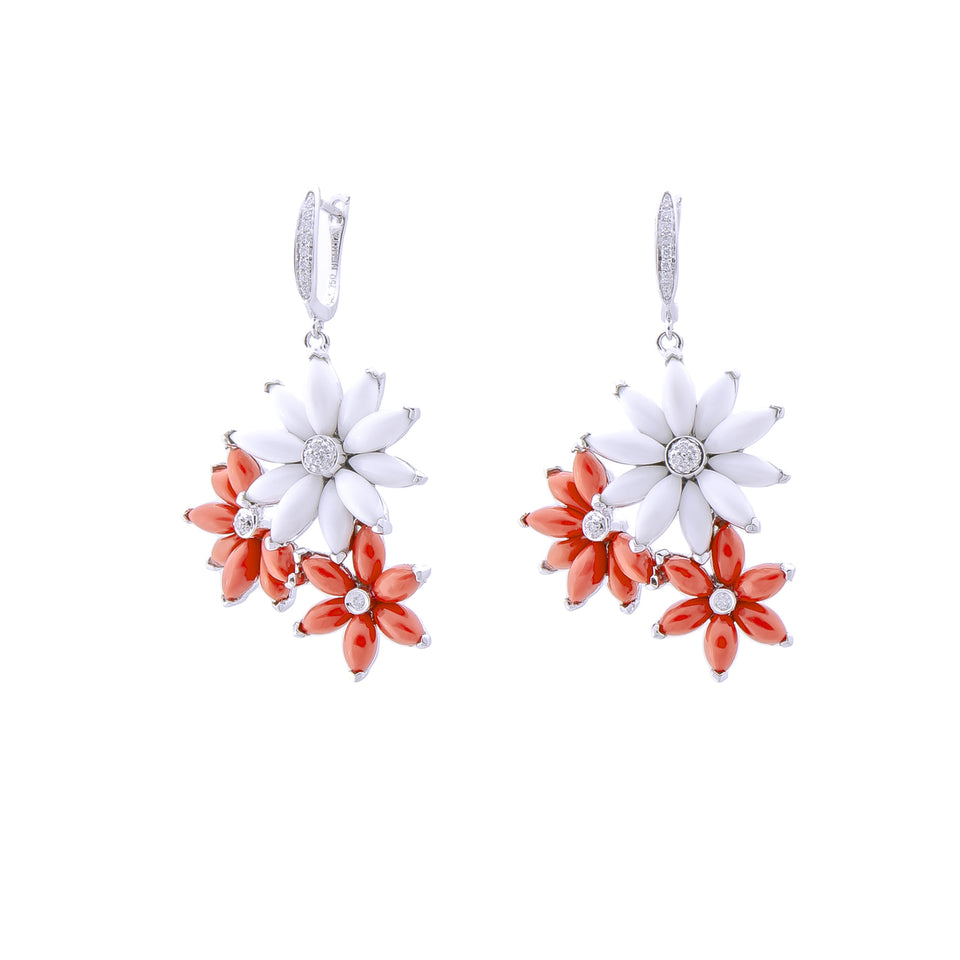 Star Coral Diamond Earring