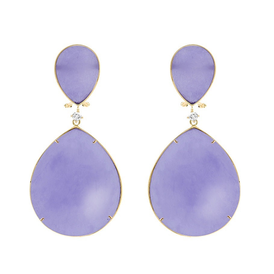 Purple Jade Earring