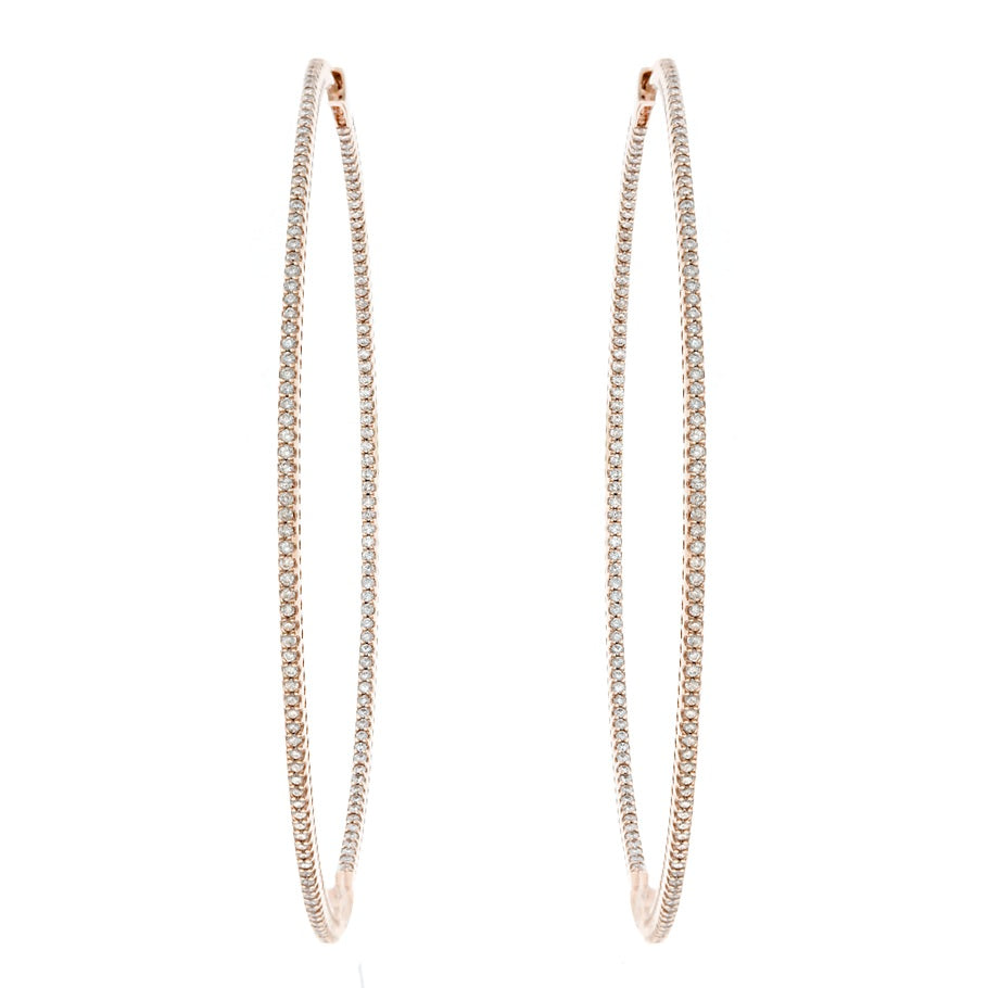 Eternity Diamond Loop Earring