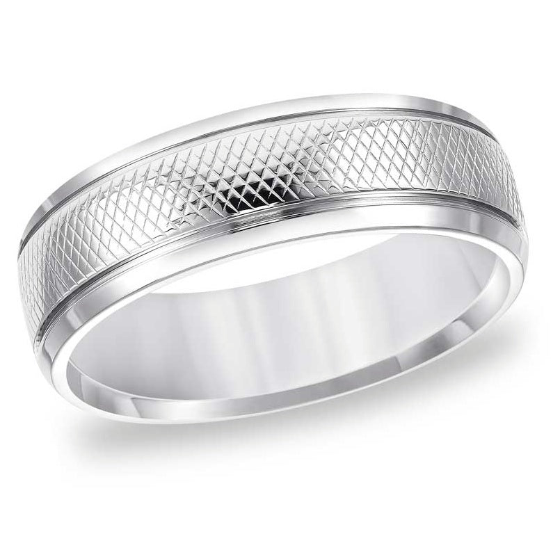 Dual Grooves Wedding Band