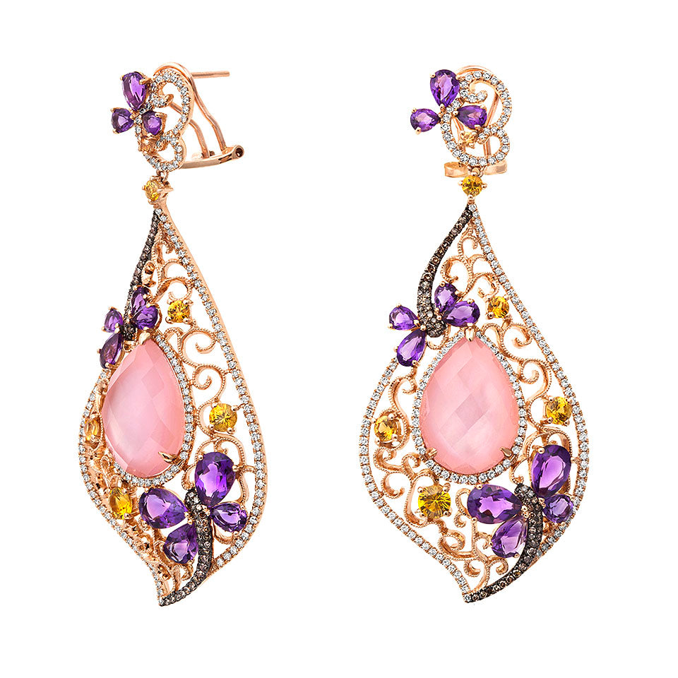 First Impression Custom Collection ~ Hand Crafted Pink Quartz Earring
