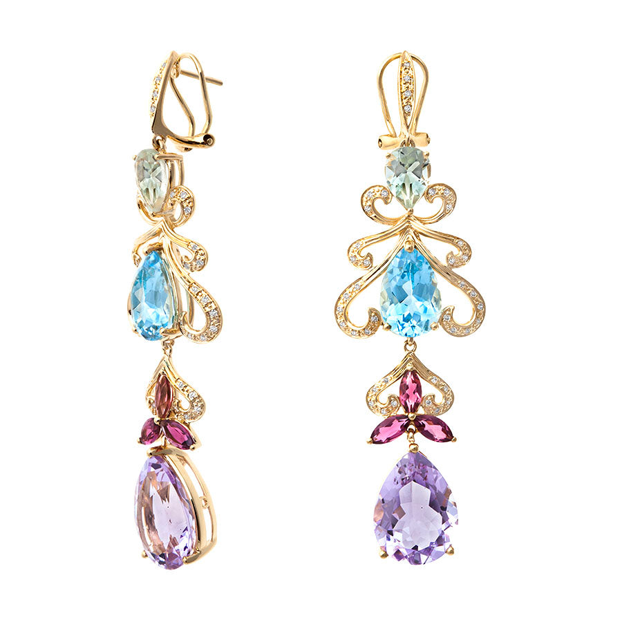 First Impression Custom Collection ~ Swa Multi-Stone Earring