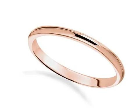 Thin Rose Gold Wedding Band