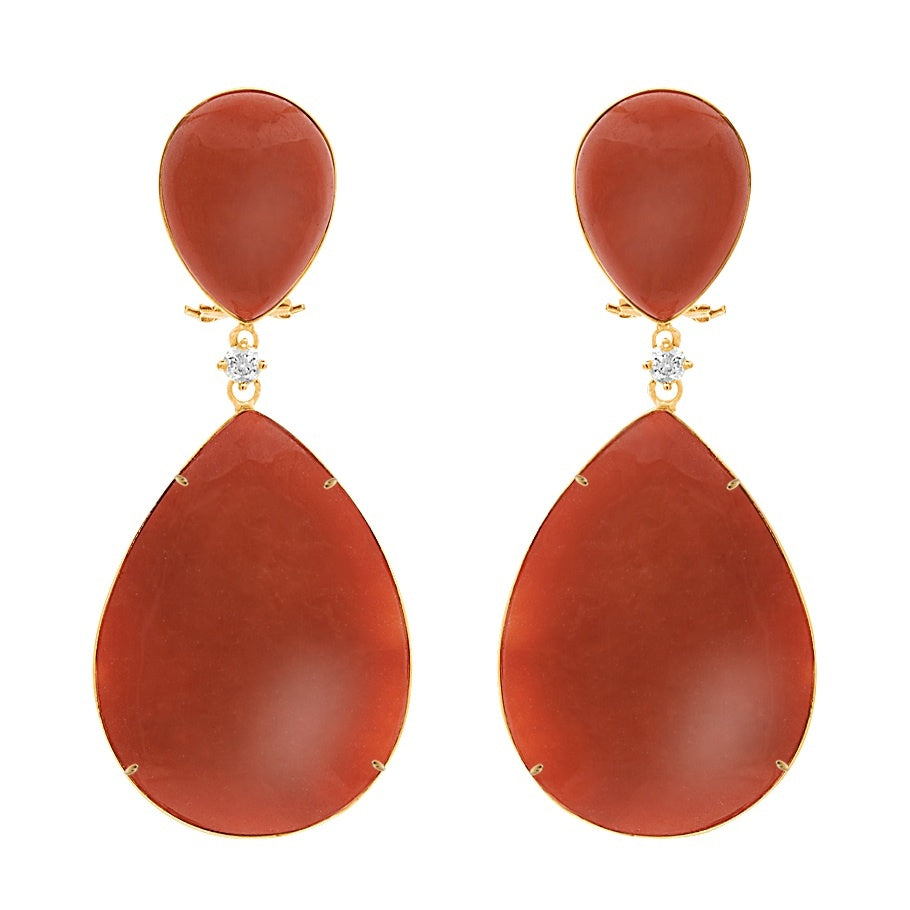 Red Jade Earring