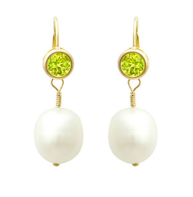 Pearl & Green Amethyst Earrings