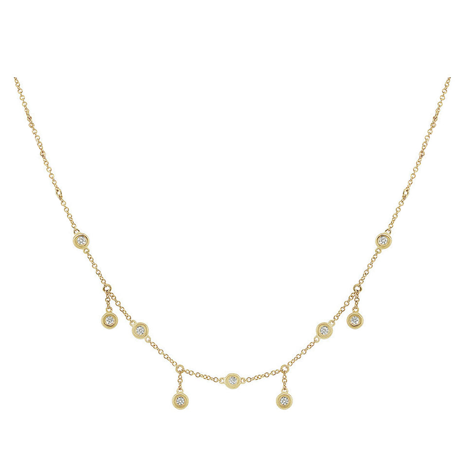 Nehita Bazel Choka Droplet Diamond Necklace