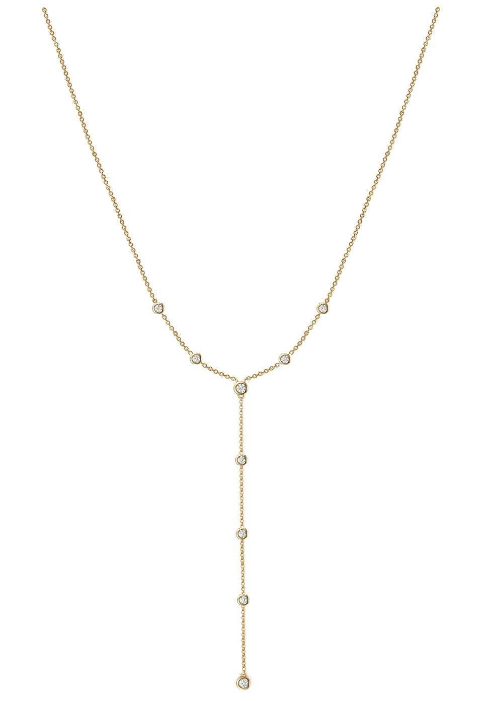 Nehita Bazel Droplet Diamond Necklace