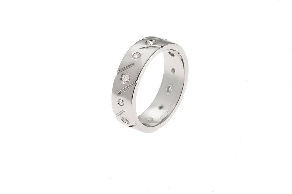 Engravable Infinity Diamond Wedding Band