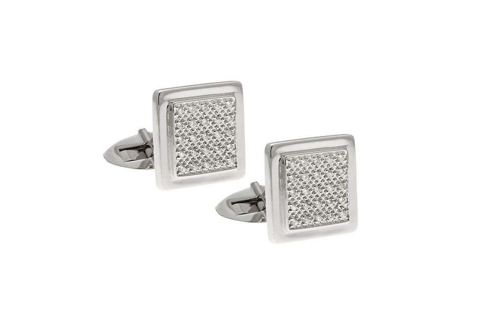 Classic Square Diamond Cuff-Link
