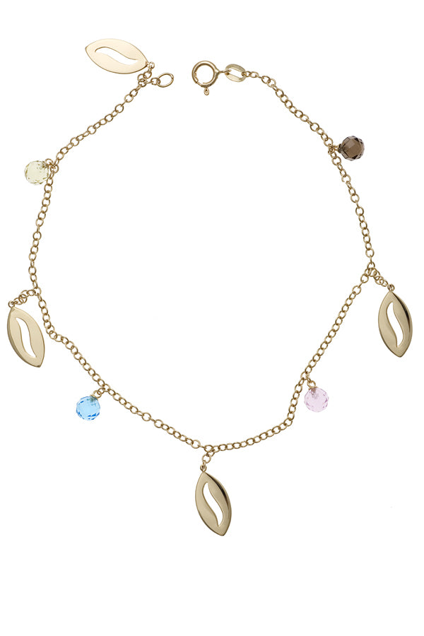 Multi-Colored Charm Anklet