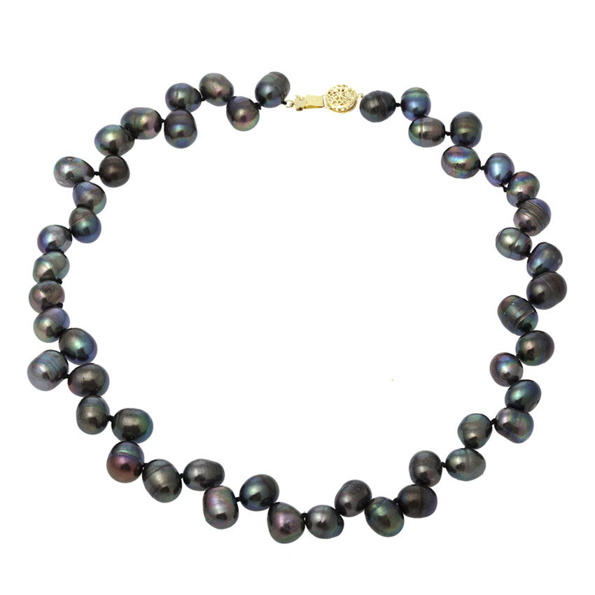 Nehita Black Rice Cultured Pearl Necklace