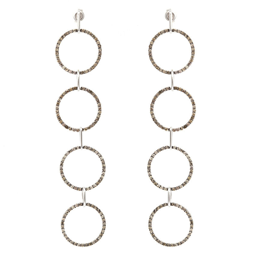 Quartet Champagne Diamond Earring