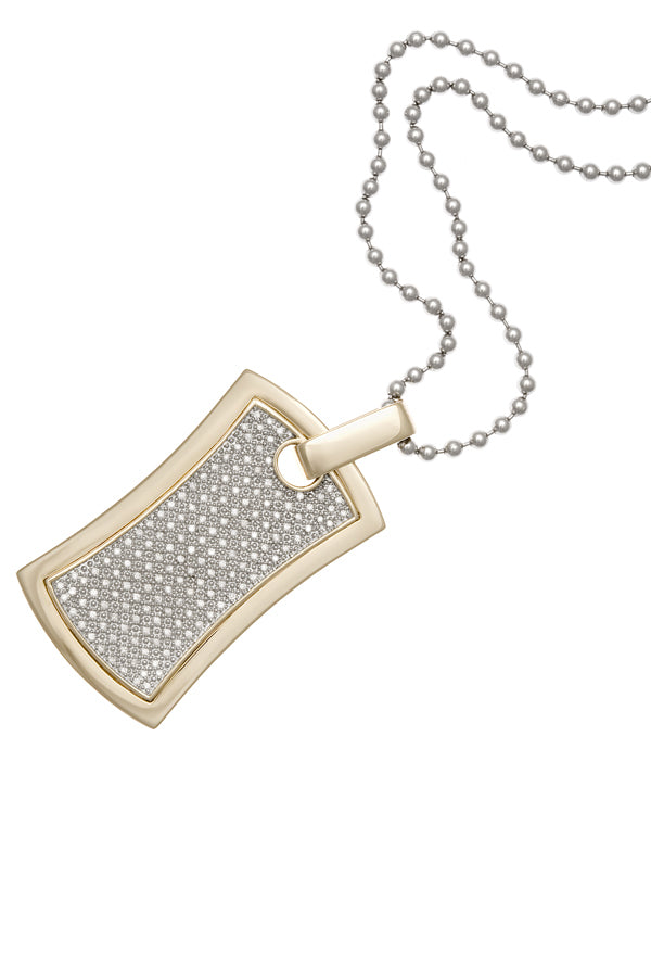 Diamond Dog-tag Pendant