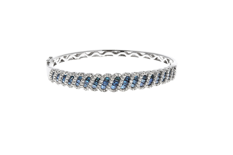 Natural Blue Diamond Bangle