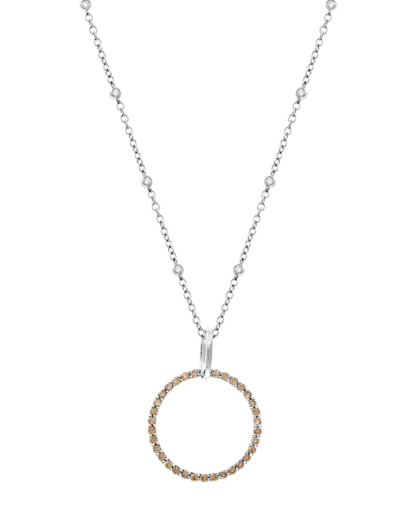 Eternity Champagne Diamond Pendant
