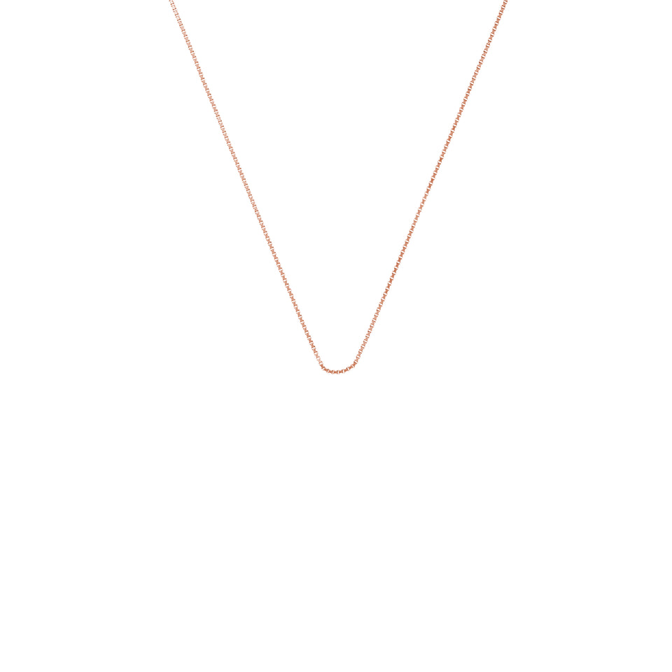 Rose Gold Mini Rolo Chain 18""