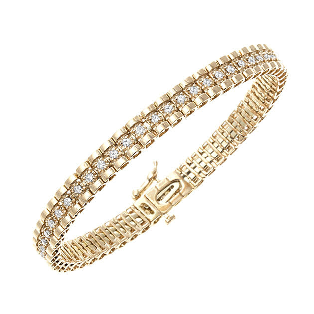 Yellow Gold Tickle Diamond Bangle